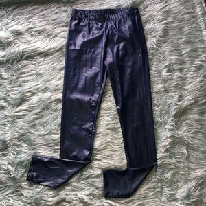 Rampage Blue Faux Leather Leggings Small